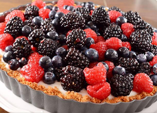 Summer Berry and Coconut Tart